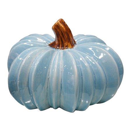 Enfeite Abóbora de Cerâmica Azul