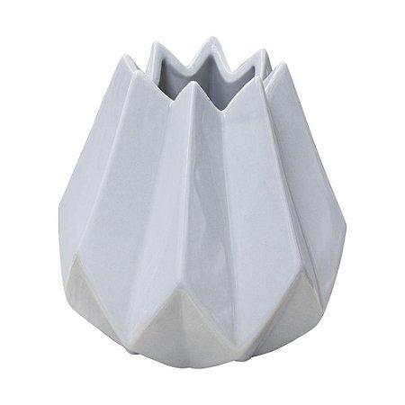Vaso Abstrato Willi Branco em Cerâmica