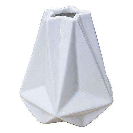 Vaso Abstrato Wind Branco em Cerâmica