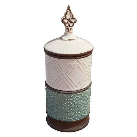 Vaso Duplo Onix em Cerâmica