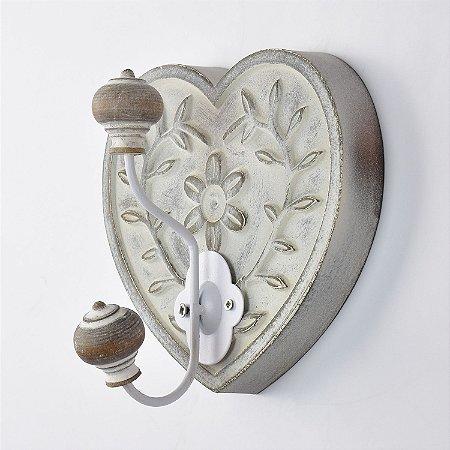Cabideiro Rústico Coração