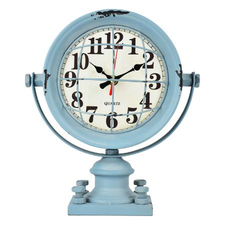 Relógio Azul Grade em Metal