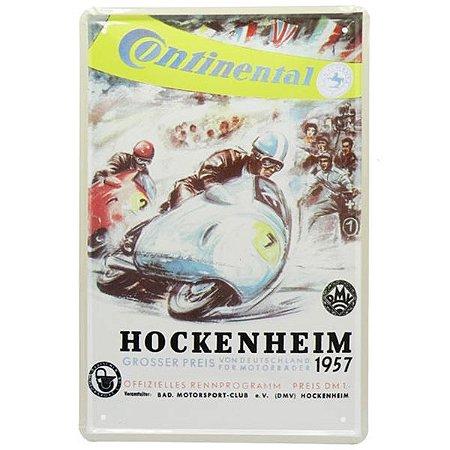 Placa Metal Continental