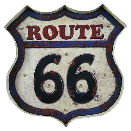 Placa de LED Route 66