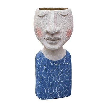 Vaso Busto Azul