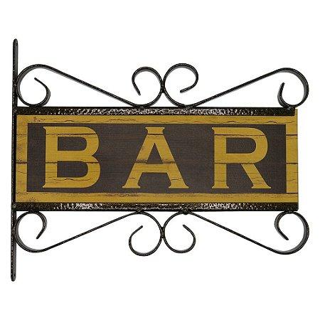Placa Vintage Bar