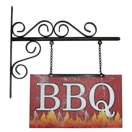 Placa de Parede BBQ
