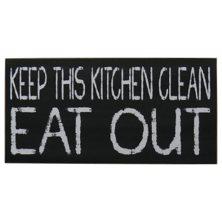 """Quadro Negro """"Keep This Kitchen Clean"""""""