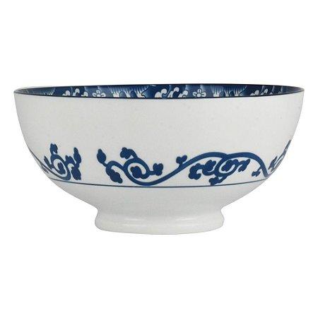 Bowl de Porcelana Arabesco com Interior Cinza