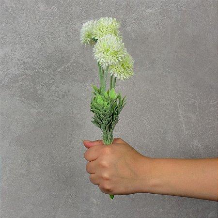 Flor Permanente Mini Dália Branca