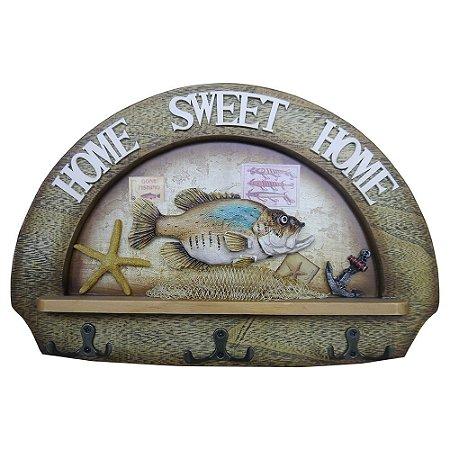 Cabideiro de Parede Náutico Home Sweet Home
