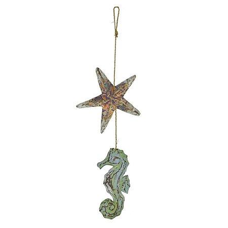 Enfeite Estrela e Cavalo Marinho Verde