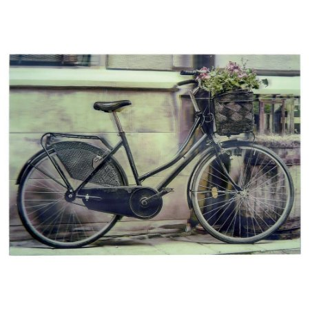 Quadro 3D Bike Cesta de Flores