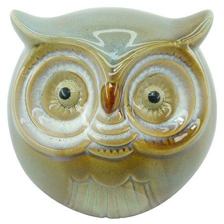 Cofre Decorativo Coruja Cinza