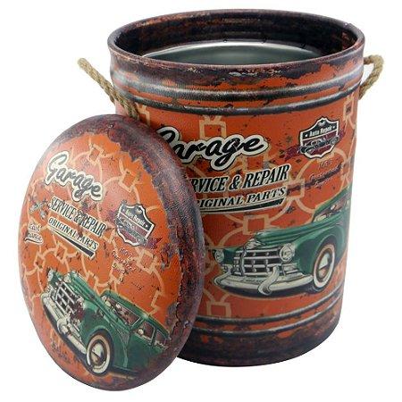 Banqueta Porta-objetos Vintage Garage