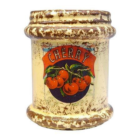 Vaso Rústico de Cerâmica Cherry