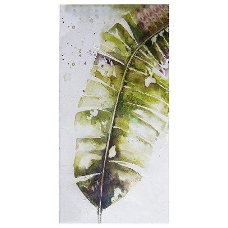 Pintura em Tela Folha de Bananeira