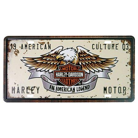 Placa decorativa de Metal Águia Harley