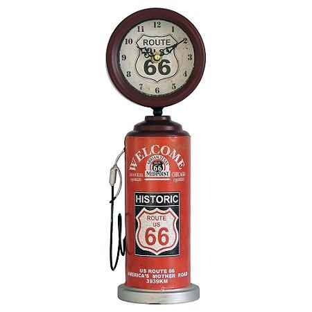 Relógio de Mesa Bomba Vermelho 36cm