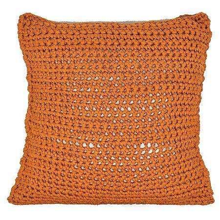 Almofada de Crochê Laranja