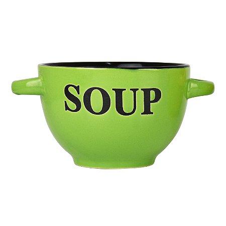 Bowl Soup Verde em Cerâmica
