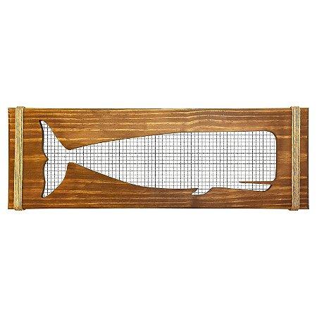 Quadro Baleia com Grade Preta
