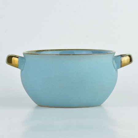 Bowl Cauldron Azul Claro em Cerâmica