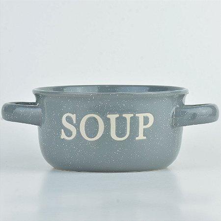 Tigela Soup Cinza em Cerâmica