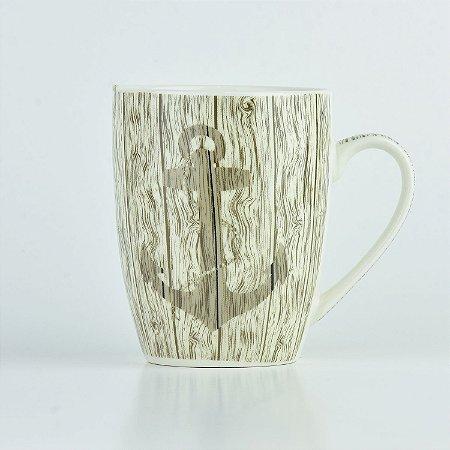 Caneca Nautica Âncora em Cerâmica