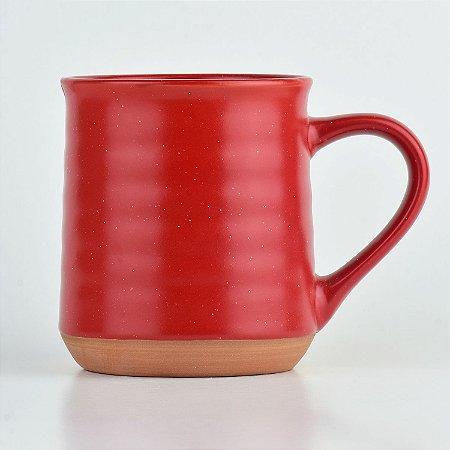 Caneca Terracota Vermelha em Cerâmica