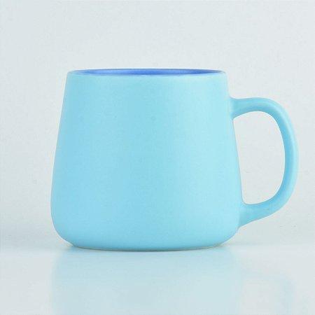 Caneca Color Azul em Cerâmica