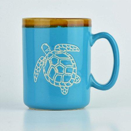 Caneca Tartaruga em Cerâmica