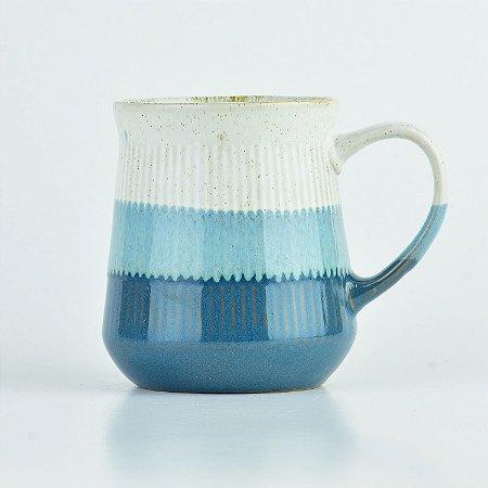 Caneca Degradê Azul em Cerâmica
