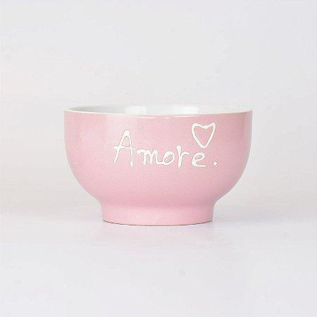 Bowl Amore Rosa em Cerâmica