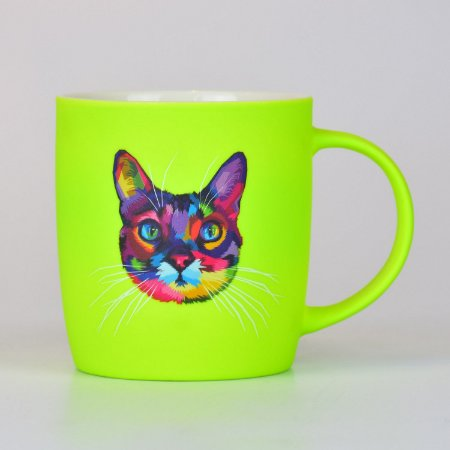 Caneca Gato em Cerâmica
