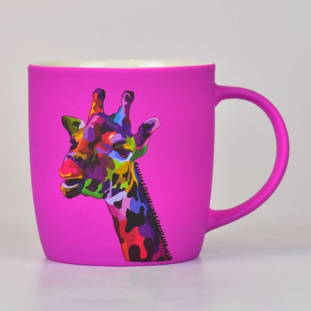 Caneca Girafa em Cerâmica