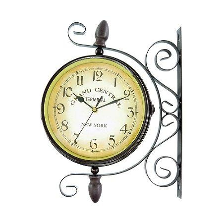 Relógio de Parede Estação de Trem Médio