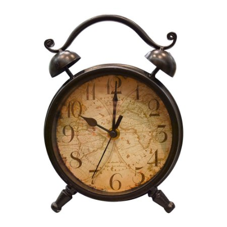 Relógio Retrô Preto em Metal