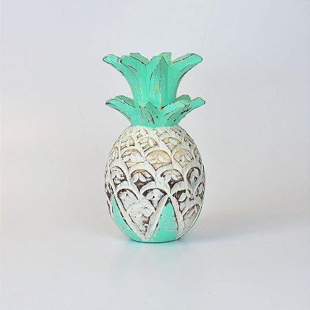 Abacaxi Decor Branco e Verde G