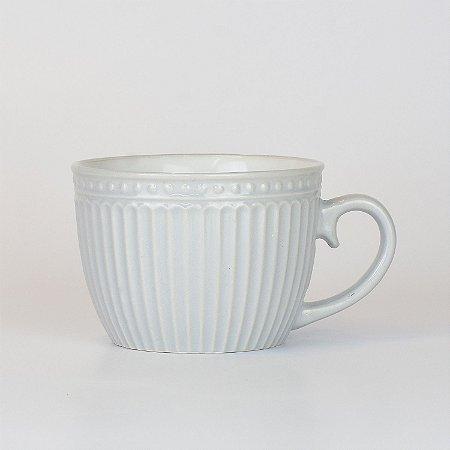 Caneca Retro Cinza com Branco