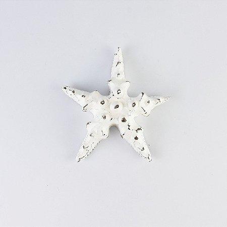 Enfeite Estrela Rústica Branca P