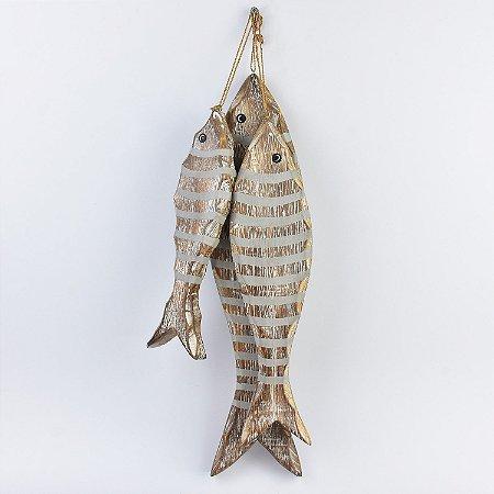 Enfeite Penca de Peixe Marrom