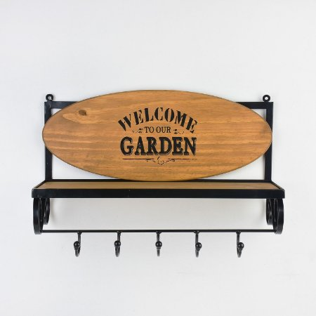 Aparador com Ganchos Welcome To Our Garden