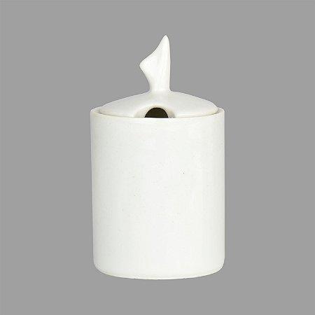 Açucareiro Charming Branco de Porcelana