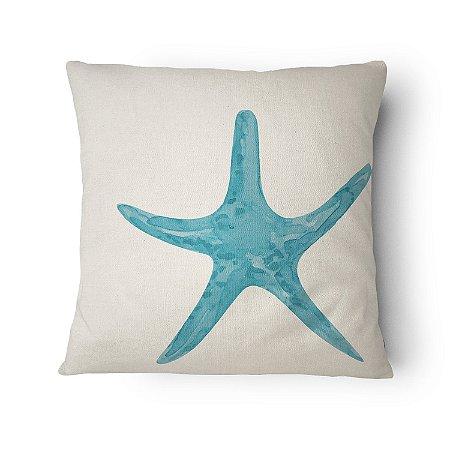 Almofada Náutica Estrela do Mar Azul Claro