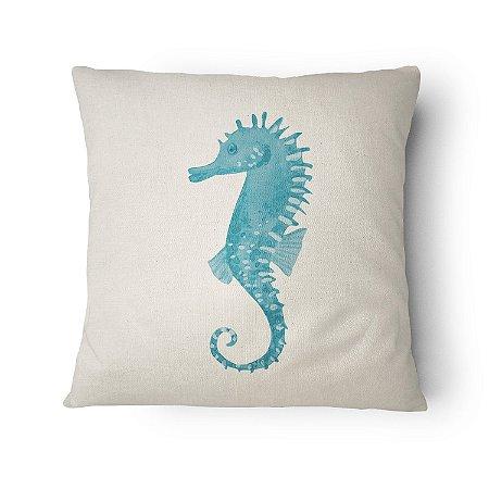 Almofada Náutica Cavalo Marinho Azul Claro