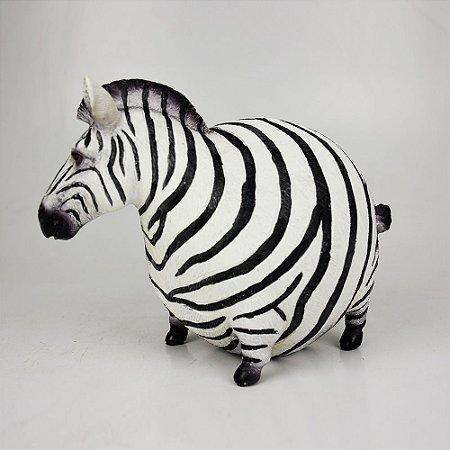 Zebra gordinha em resina