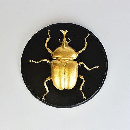 Quadro Escaravelho Dourado B