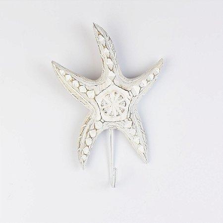 Cabideiro Estrela do Mar Rústica Branca