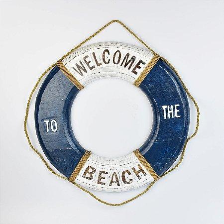 Bóia Welcome Beach Branco e Azul Escuro G